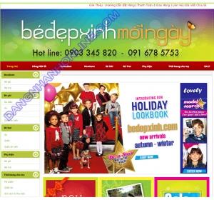 Thiết kế website bedepxinh.com