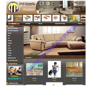 Thiết kế website mainguyenfurniture.com