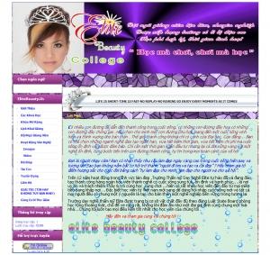 Thiết kế website elitebeautyful.us