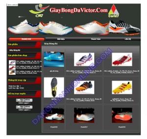 Thiết kế website giaydabongcr7.com