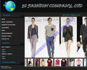 Thiết kế website 3sfashion.com