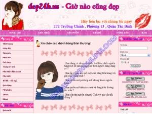 Thiết kế website dep24h.us