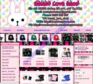Thiết kế website shopbunnylove.com
