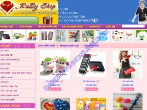 Thiết kế website shopbenben.com