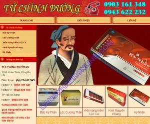 Thiết kế website tuchinhduongtpcn
