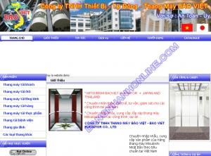 Thiết kế website baoviettelevator.com