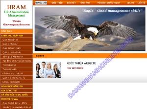 Thiết kế website giaovienquantrihcns.com