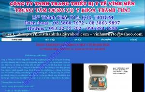 Thiết kế website thanhthaiyte.com