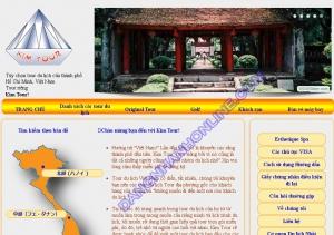 Thiết kế website kim-tour.com