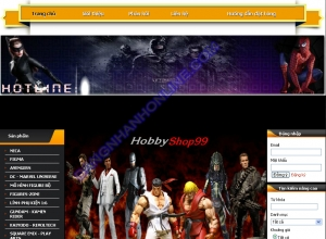 Thiết kế website hobbyshop99.com
