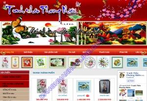 Thiết kế website tranhtheuphuongnhien.com