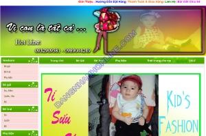 Thiết kế website tisuushop.vn