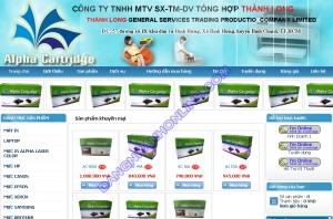 Thiết kế website alphacartridge.com.vn