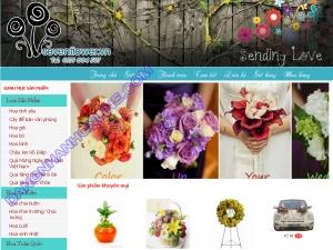 Thiết kế website sevenflower.vn