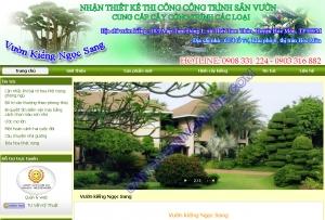 Thiết kế website vuonkienngocsang.com