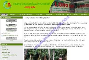 Thiết kế website caysuadolongson.com.vn