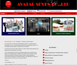 Thiết kế website avatarseven7.com