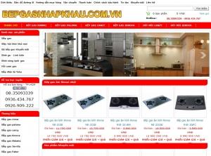 Thiết kế website bepgasnhapkhau.com.vn