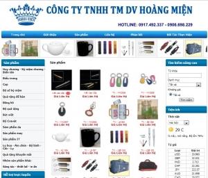 Thiết kế website hoangmiengifts.com
