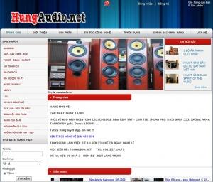 Thiết kế website  hungaudio.net
