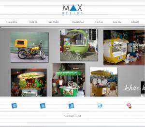 Thiết kế website  maxd.vn