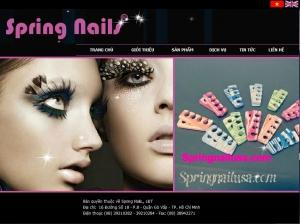 Thiết kế website  springnailusa.com