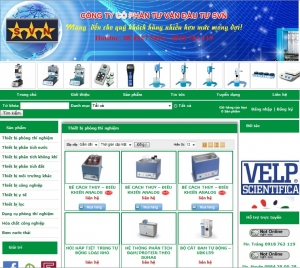 Thiết kế website thietbi.svngroup.vn