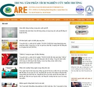 Thiết kế website trungtamcare.com