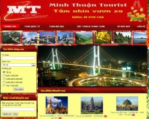 Thiết kế website minhthuantourist.com