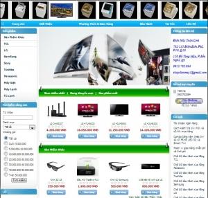 Thiết kế website  shopdienmay.vn