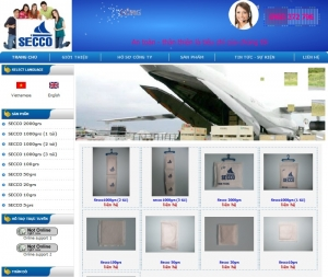 Thiết kế website  secco.vn