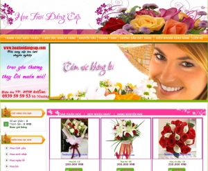 Thiết kế website hoatuoidangcap.com