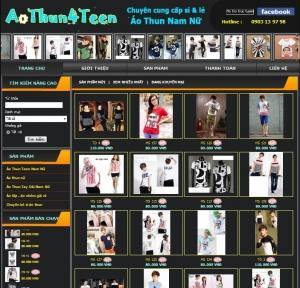 Thiết kế website aothun4teen.com