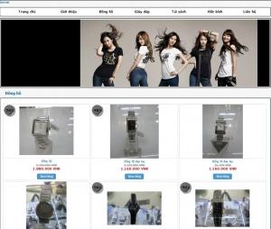 Thiết kế website hangshop.com.vn