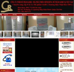 Thiết kế website myphamgiori.com