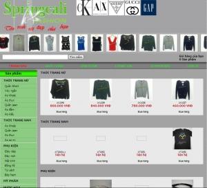 Thiết kế website springcali.com