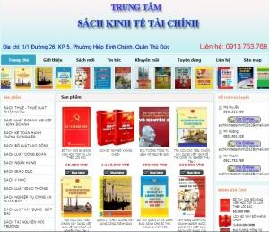 Thiết kế website sachkinhtetaichinh.com