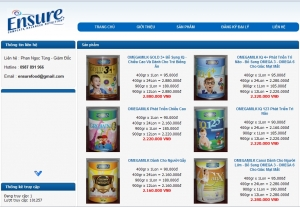 Thiết kế website ensurefood.com