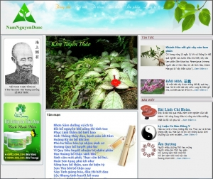 Thiết kế website namduoctanban.com