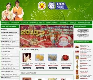 Thiết kế website yensaogialong.com
